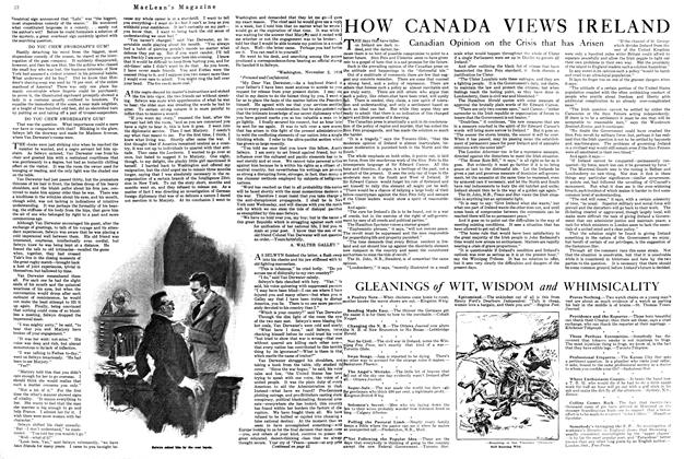 Article Preview: HOW CANADA VIEWS IRELAND, August 1920 | Maclean's