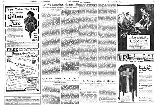 Article Preview: The Strong Man of Mexico, August 1920 | Maclean's