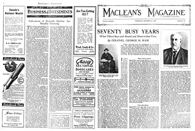 Article Preview: SEVENTY BUSY YEARS, August 1920 | Maclean's