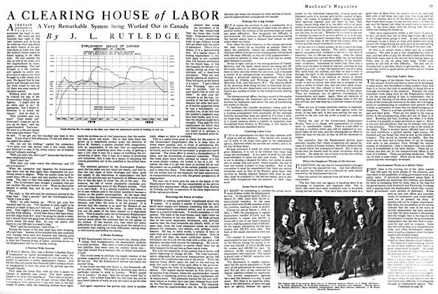 Article Preview: A CLEARING HOUSE of LABOR, August 1920 | Maclean's