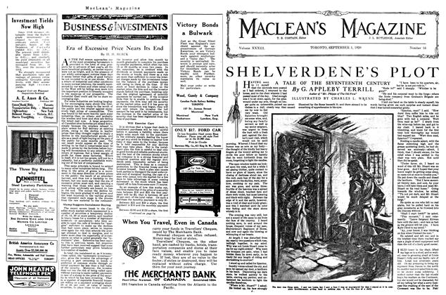 Article Preview: SHELVERDENE'S PLOT, September 1920 | Maclean's