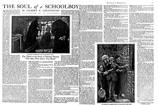 Article Preview: THE SOUL of a SCHOOLBOY, September 1920 | Maclean's