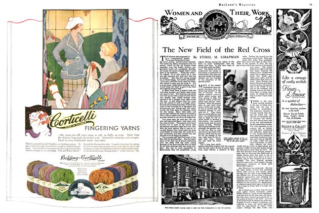 Article Preview: The New Field of the Red Cross, September 1920 | Maclean's