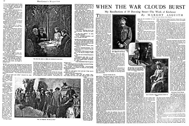 Article Preview: WHEN THE WAR CLOUDS BURST, September 1920 | Maclean's