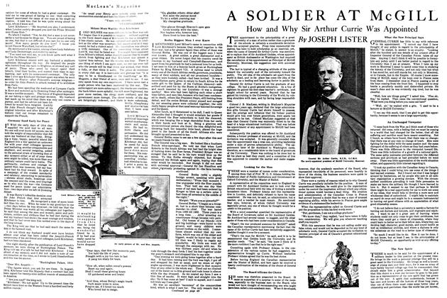 Article Preview: A SOLDIER AT McGILL, September 1920 | Maclean's