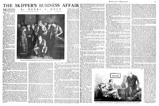 Article Preview: THE SKIPPER'S BUSINESS AFFAIR, October 1920 | Maclean's
