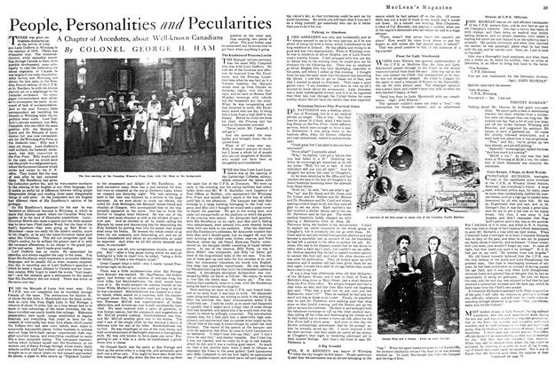 Article Preview: People, Personalities and Pecularities, October 1920 | Maclean's
