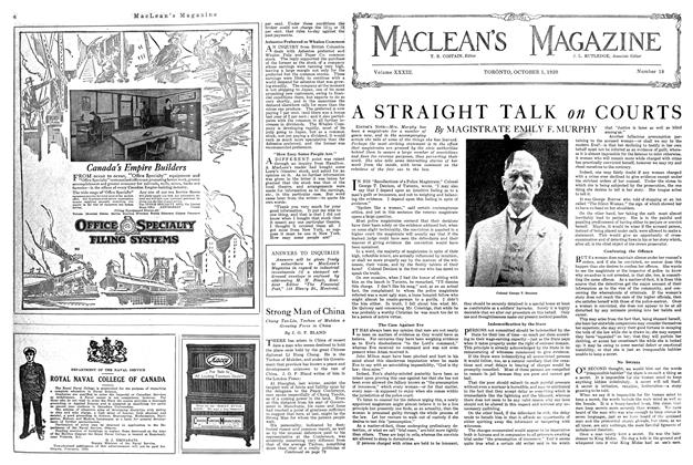Article Preview: A STRAIGHT TALK on COURTS, October 1920 | Maclean's