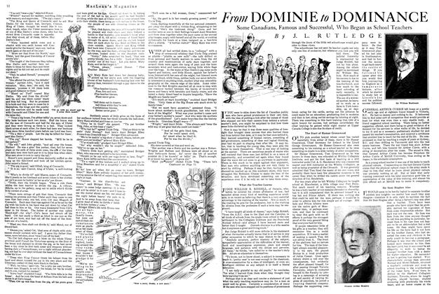 Article Preview: From DOMINIE to DOMINANCE, October 1920 | Maclean's