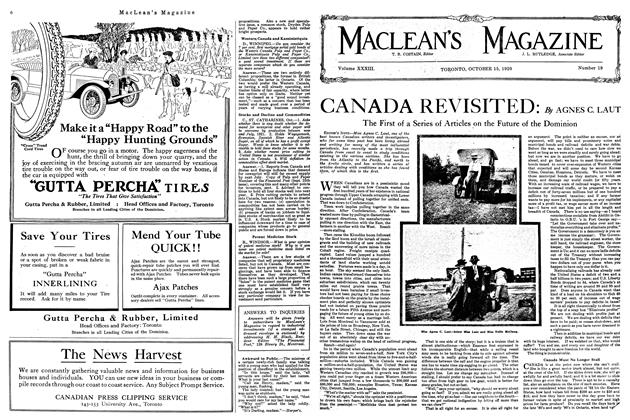 Article Preview: CANADA REVISITED:, October 1920 | Maclean's