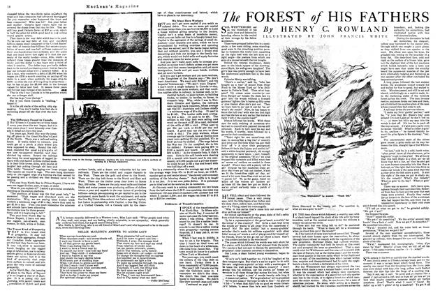 Article Preview: The FOREST of HIS FATHERS, October 1920 | Maclean's