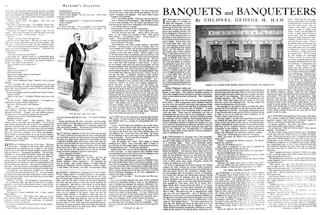 Article Preview: BANQUETS and BANQUETEERS, November 1920 | Maclean's