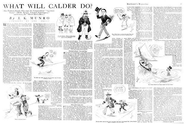 Article Preview: WHAT WILL CALDER DO?, November 1920 | Maclean's