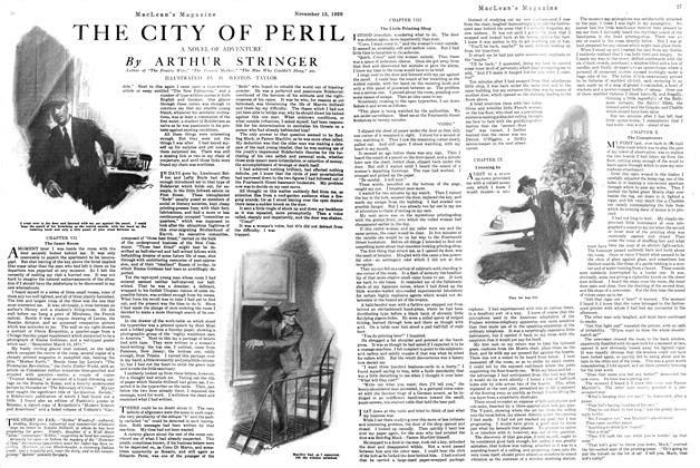 Article Preview: THE CITY OF PERIL, NOVEMBER 15TH 1920 1920 | Maclean's