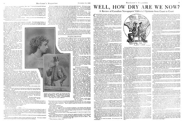 Article Preview: WELL, HOW DRY ARE WE NOW?, NOVEMBER 15TH 1920 1920 | Maclean's