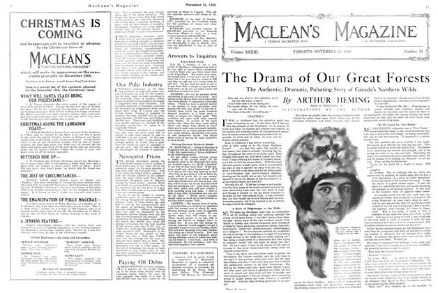 Article Preview: The Drama of Our Great Forests, NOVEMBER 15TH 1920 1920 | Maclean's
