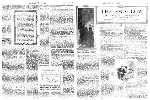 Article Preview: THE SWALLOW, NOVEMBER 15TH 1920 1920 | Maclean's