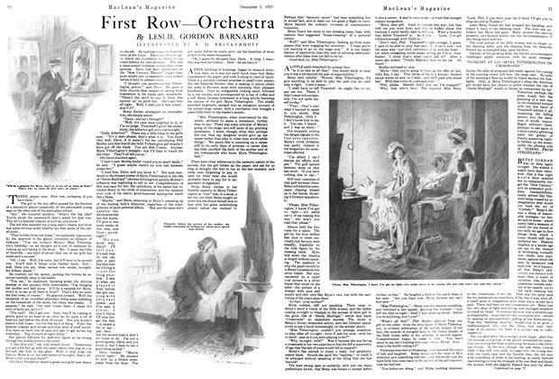 Article Preview: First Row—Orchestra, December 1920 | Maclean's