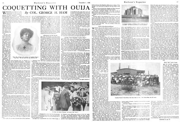 Article Preview: COQUETTING WITH OUIJA, December 1920 | Maclean's