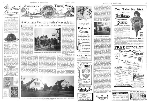 Article Preview: A Woman's Venture with a Wayside Inn, December 1920   Maclean's