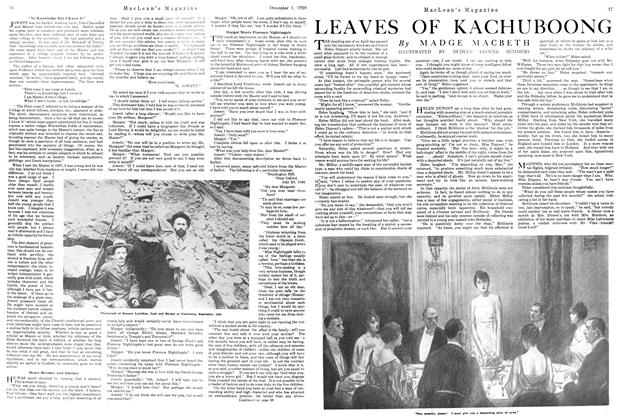 Article Preview: LEAVES OF KACHUBOONG, December 1920 | Maclean's