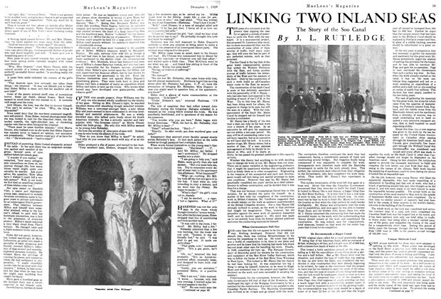 Article Preview: LINKING TWO INLAND SEAS, December 1920 | Maclean's