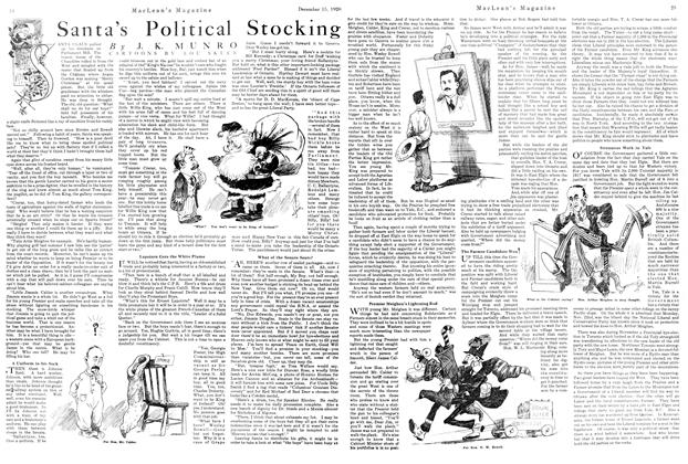 Article Preview: Santa's Political Stocking, December 1920 | Maclean's