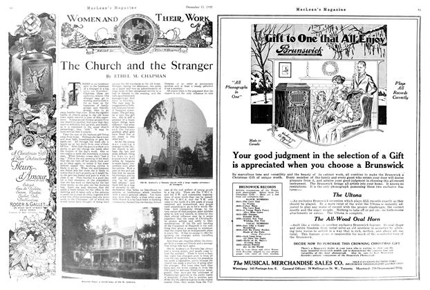 Article Preview: The Church and the Stranger, December 1920 | Maclean's