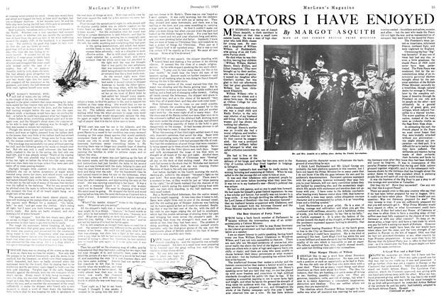 Article Preview: ORATORS I HAVE ENJOYED, December 1920 | Maclean's