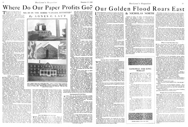 Article Preview: Where Do Our Paper Profits Go?, December 1920 | Maclean's
