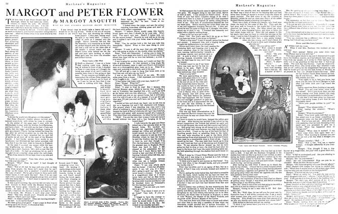 Article Preview: MARGOT and PETER FLOWER, January 1921 | Maclean's