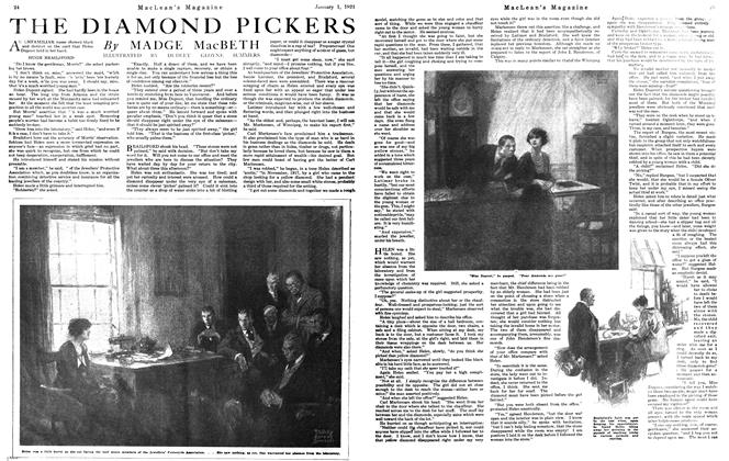 Article Preview: THE DIAMOND PICKERS, January 1921 | Maclean's
