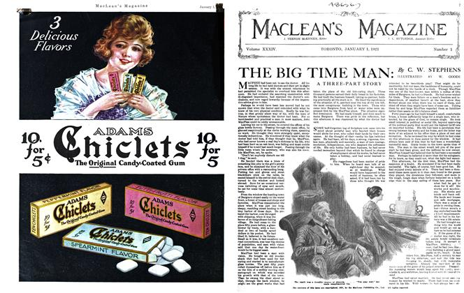 Article Preview: THE BIG TIME MAN, January 1921 | Maclean's