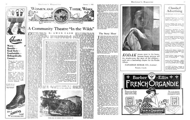 """Article Preview: A Community Theatre """"In the Wilds"""", January 1921 