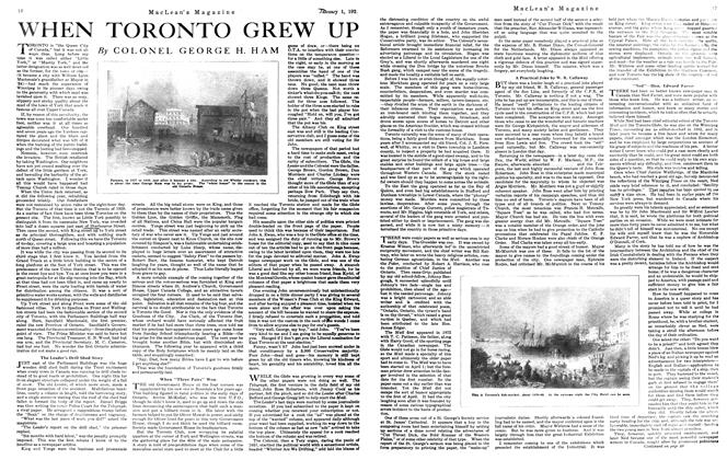 Article Preview: WHEN TORONTO GREW UP, January 1921 | Maclean's
