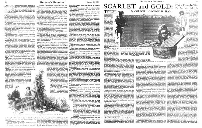 Article Preview: SCARLET and GOLD, January 15th, 1921 1921 | Maclean's