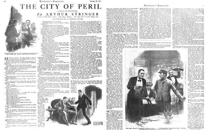 Article Preview: THE CITY OF PERIL, January 15th, 1921 1921 | Maclean's