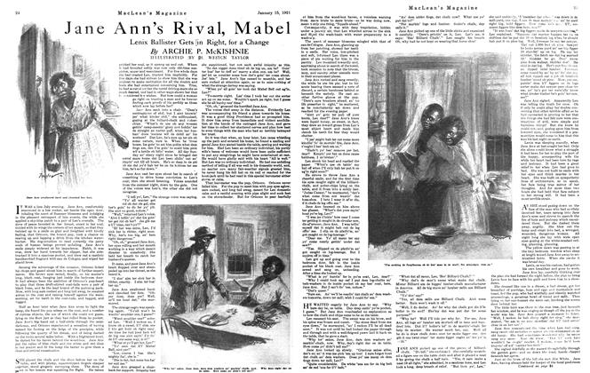 Article Preview: Jane Ann's Rival, Mabel, January 15th, 1921 1921 | Maclean's