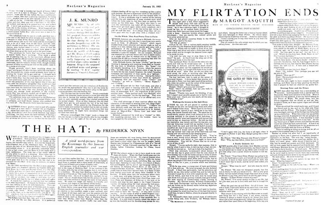 Article Preview: MY FLIRTATION ENDS, January 15th, 1921 1921 | Maclean's