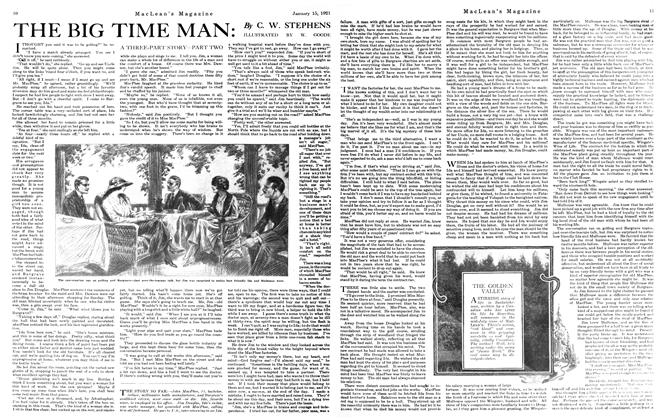 Article Preview: THE BIG TIME MAN, January 15th, 1921 1921 | Maclean's