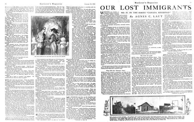 Article Preview: OUR LOST IMMIGRANTS, January 15th, 1921 1921 | Maclean's