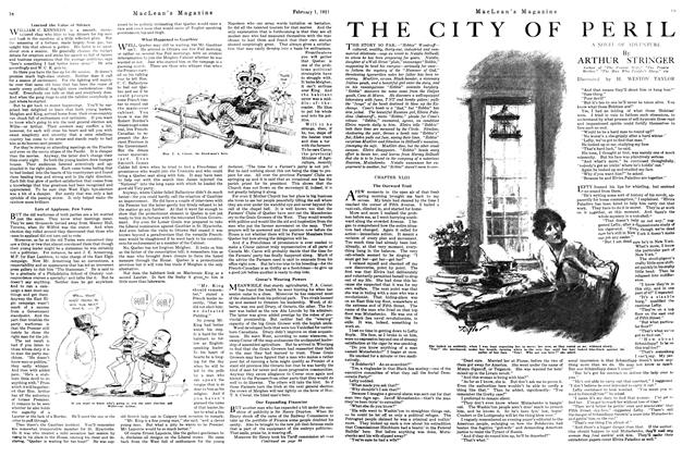 Article Preview: THE CITY OF PERIL, February 1st, 1921 1921 | Maclean's