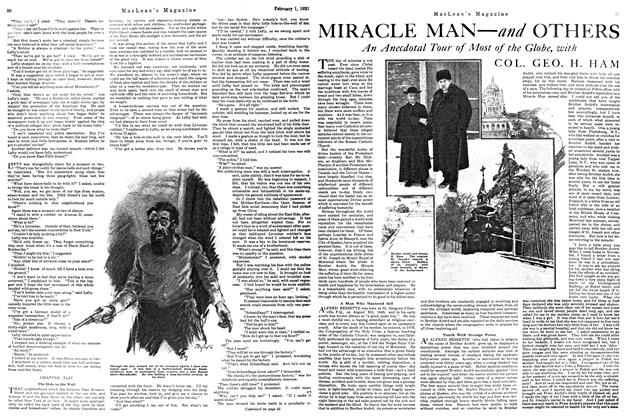 Article Preview: MIRACLE MAN—and OTHERS, February 1st, 1921 1921 | Maclean's