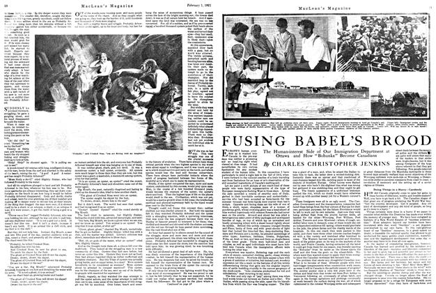 Article Preview: FUSING BABEL'S BROOD, February 1st, 1921 1921 | Maclean's