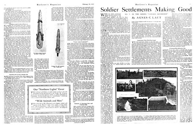 Article Preview: Soldier Settlements Making Good, FEBRUARY 15TH 1921 | Maclean's