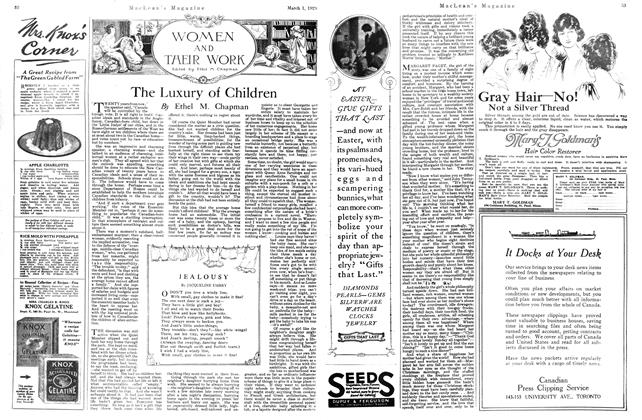 Article Preview: The Luxury of Children, March 1921 | Maclean's