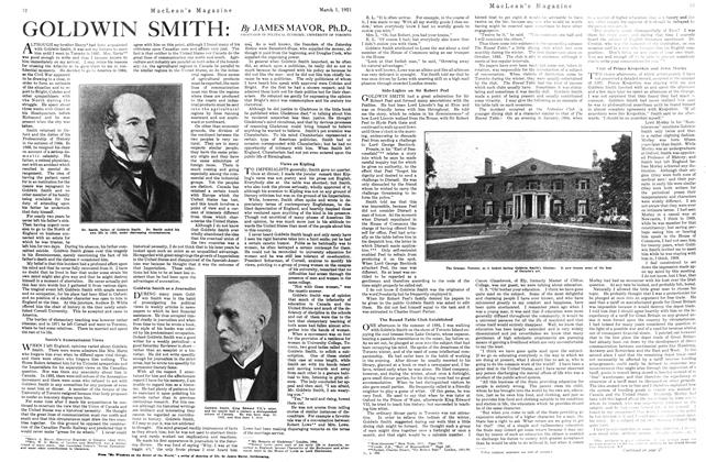 Article Preview: GOLDWIN SMITH:, March 1921 | Maclean's