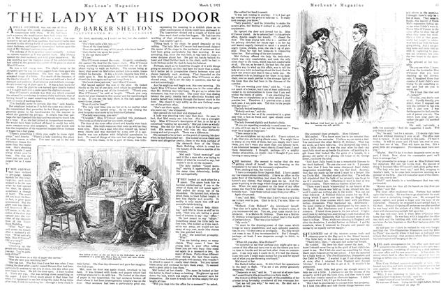 Article Preview: THE LADY AT HIS DOOR, March 1921 | Maclean's