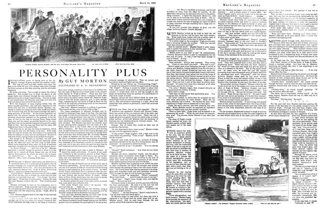 Article Preview: PERSONALITY PLUS, March 1921 | Maclean's