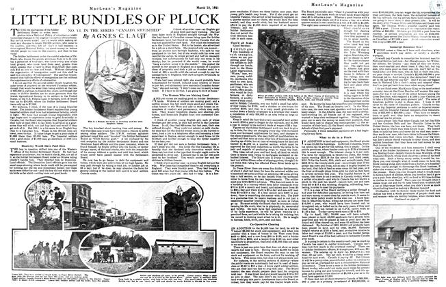 Article Preview: LITTLE BUNDLES OF PLUCK, March 1921 | Maclean's